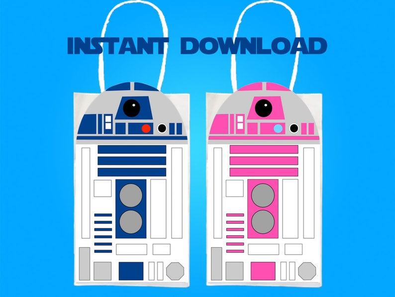 photograph about R2d2 Printable named Star Wars R2D2 Get together Prefer Bag Printable, Star Wars Birthday Celebration Goodie Bag, Star Wars Bash Materials, Star Wars Celebration Desire