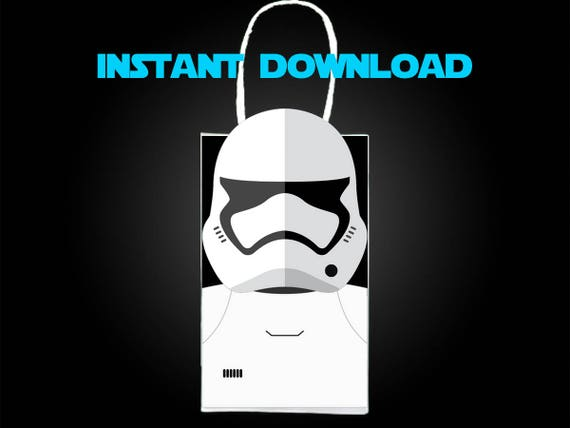 image about Stormtrooper Printable titled Star Wars Stormtrooper Get together Prefer Bag Printable, Star Wars Birthday Social gathering Goodie Bag, Star Wars Occasion Components, Star Wars Bash Choose
