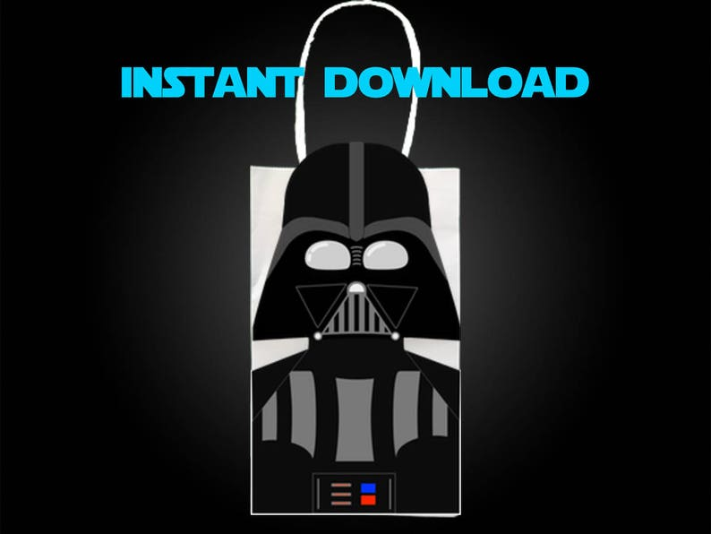 picture regarding Printable Star Wars Images referred to as Star Wars Darth Vader Get together Desire Bag Printable, Star Wars Birthday Social gathering Goodie Bag, Star Wars Get together Products, Star Wars Get together Desire