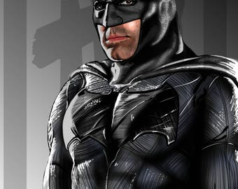 Batman - Ben Affleck Digital Art Print
