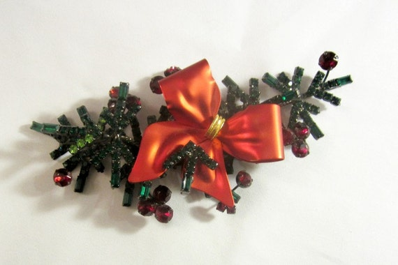 Over-Sized Holiday Brooch by Lawrence Vrba