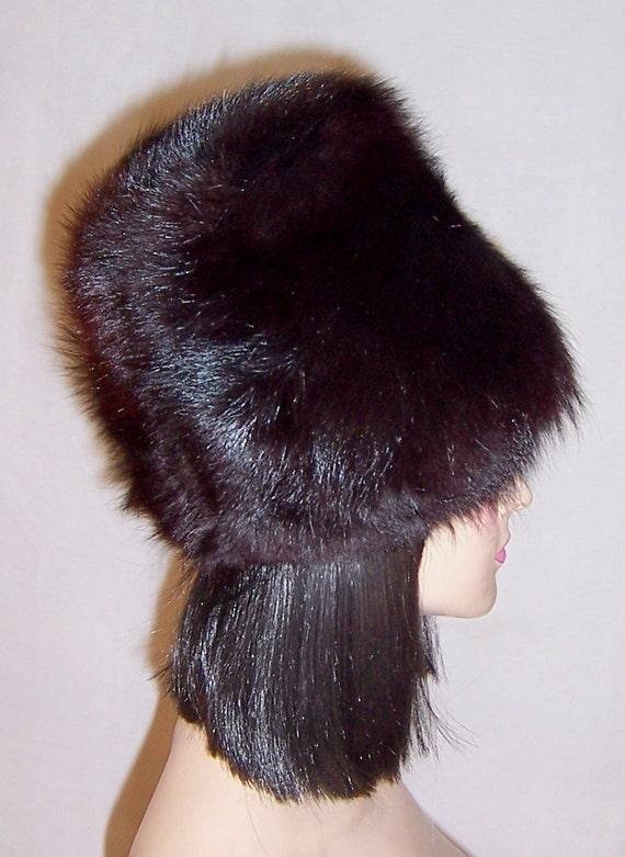 1960's Black Fox Fur Hat - image 3