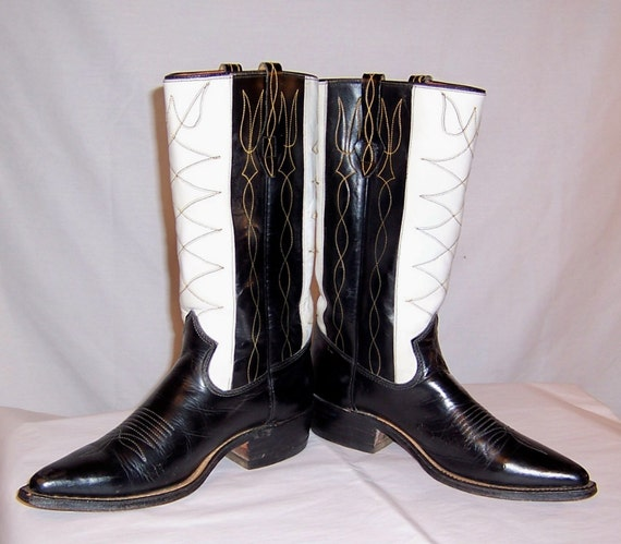Men's 1940's Johnnie Walker-Black and White Cowbo… - image 2