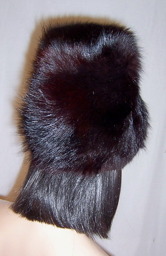 1960's Black Fox Fur Hat - image 4
