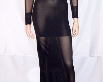 """Sleek and Sensual Long Black Gown by """"Mariot Chanet-Paris"""""""