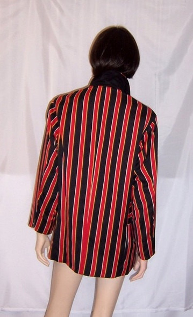 Black and Yellow Striped Moschino Couture Jacket 1980/'s Red