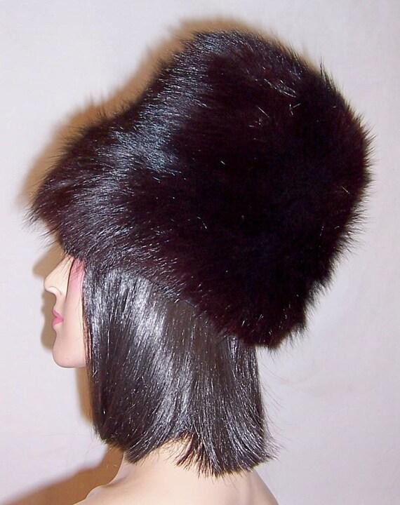 1960's Black Fox Fur Hat - image 5