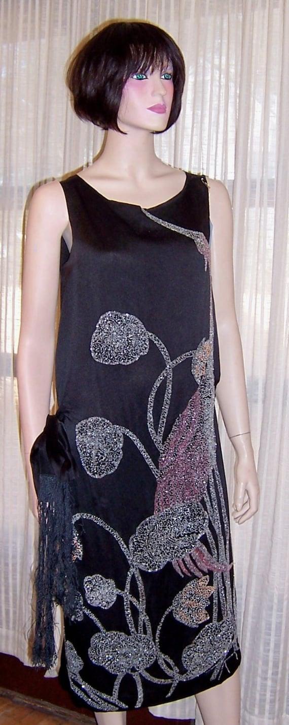 """1920's Beaded Art Deco Dress of  """"Wearable Art"""""""