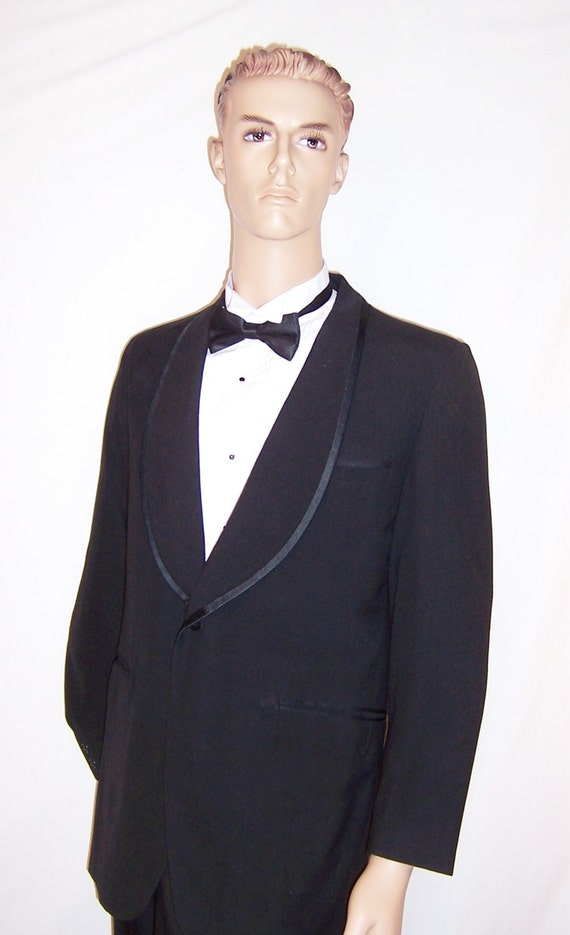 Men's Early 1960's, Palm Beach Formal Wear, Black