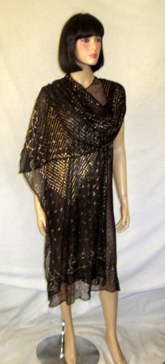 1920's Art Deco Egyptian Assuit Dress with Matchin