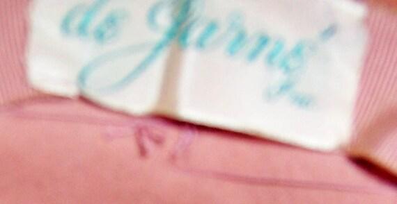 Depression Era-Pink Wool Felt Platter Hat with Ro… - image 5