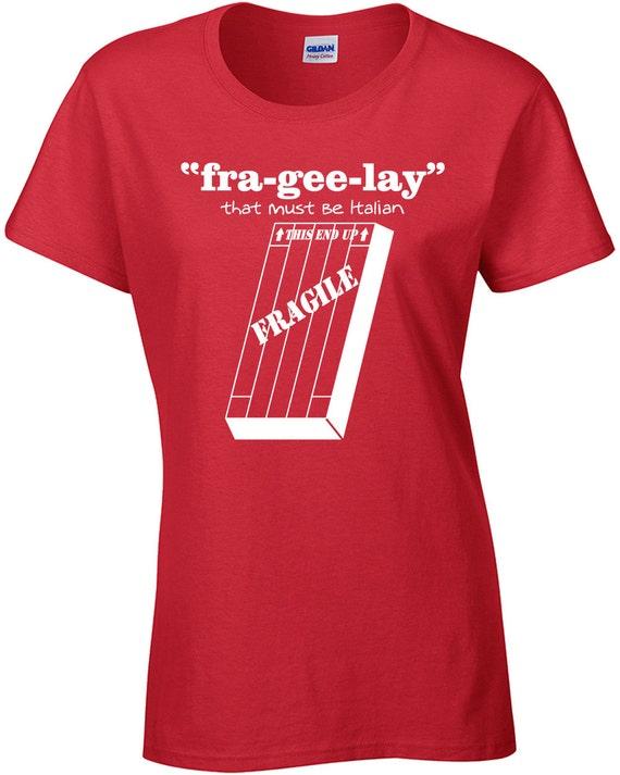 FRA-GEE-LAY It Must Be Italian LEG LAMP Christmas Story Men/'s Tee Shirt 501