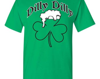 St Patrick's Day Shamrock Beer Mug Dilly Dilly St Pat's Men's Tee Shirt 1763