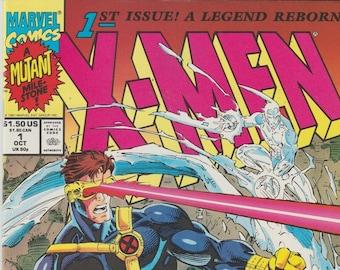 X-Men #1 (1991, Marvel) Cover C 2nd Series Comics Jim Lee Art 1990s Wolverine Storm Cyclops Jean Grey Gambit Rogue Colossus Comic Book