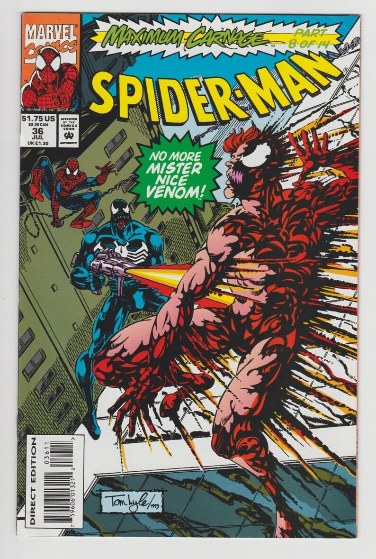 25 Off Spider Man 36 1993 Marvel Maximum Carnage Part 8 Etsy