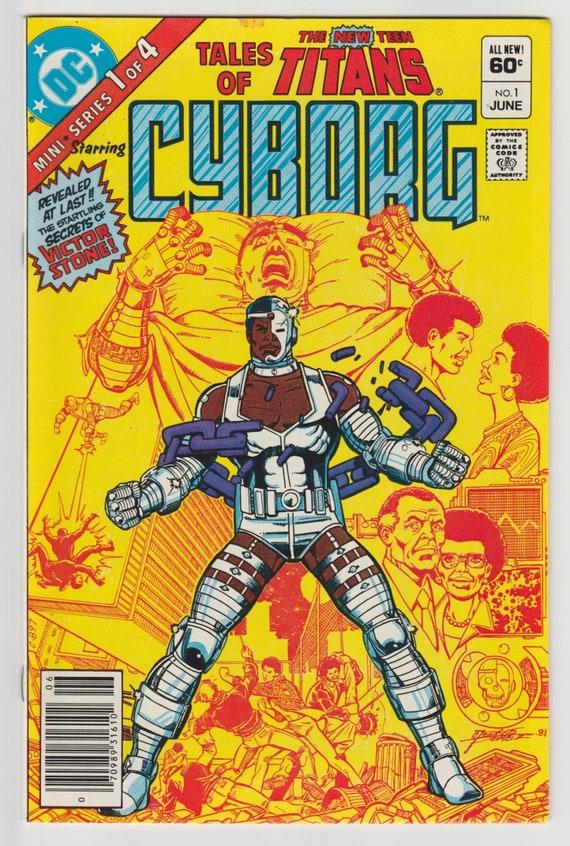 Tales Of Teen Titans 1 1St Solo Cyborg Origin Dc Comic Book  Etsy-5544