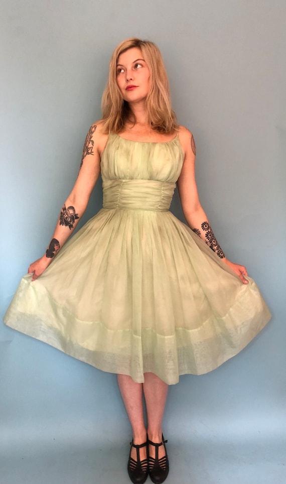 Xs 1950s mint green cupcake party dress