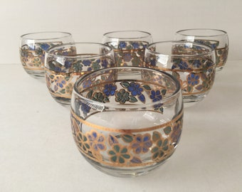 Culver Angels and Snowflakes Cocktail Glasses