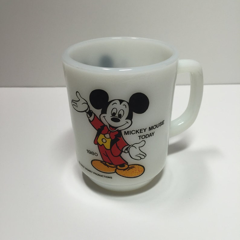 Collector MugMickey Blanc Une Hocking De Collection CaféObjets En 1980 Pepsi MouseMouse Disney Vintage Anchor Série Verre Tasse OP80wXnk