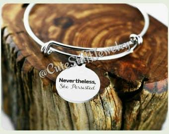 Nevertheless She Persisted Bracelet Etsy