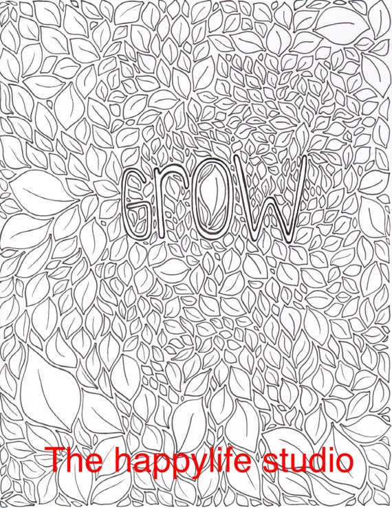Inspirational Coloring Pages Adult Coloring Book Printable Etsy