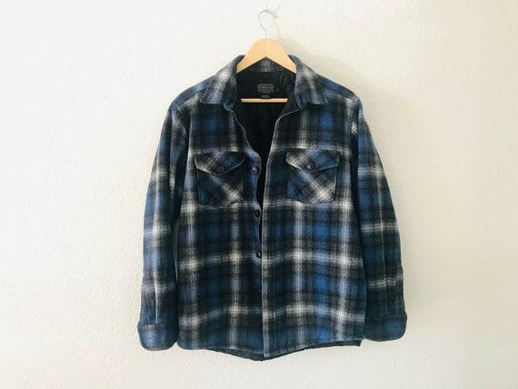Pendleton quilted wool shirt jacket