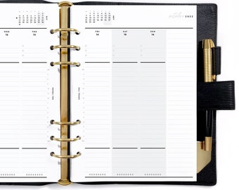 A5 Dated Vertical Weekly Wo2P, Printable Planner Inserts [PDF File] v2022