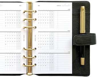Personal Yearly Set, Dated Quarterly Calendar, Undated Biannual / Quarterly Overviews, Printable Planner Inserts [PDF File] v2022