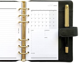 Personal Dated Calendar Mo1P, Printable Planner Inserts [PDF File] v2022