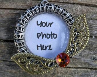 Harry Potter quiddich snitch necklace - Custom photo pendant