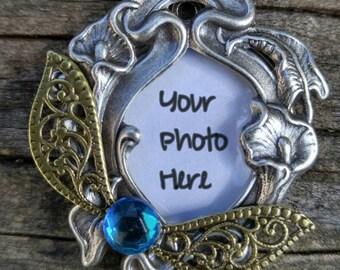 Custom Photo Pendant, Legend of Zelda Inspired Necklace, Navi Inspired Charm