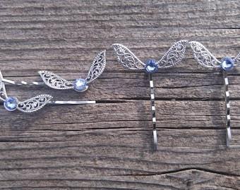 MADE TO ORDER - Swarovski Crystal - Zelda Hair pins - Fairy hair pins - Butterfly hair pins