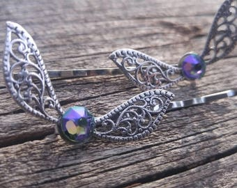 Paradise Swarovski - Fairy Wings - Legend of Zelda Inspired - Harry Potter Inspired -  Hair pins