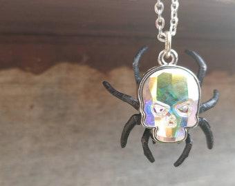 Legend of Zelda Skulltula necklace - Ocarina of Time -Spider skull necklace