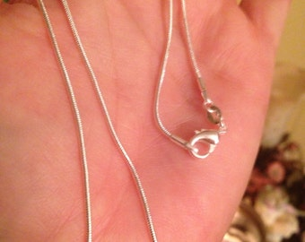 New! 18 inch 925 Sterling Silver Snack Chain w/ Lobster Claw Clasp