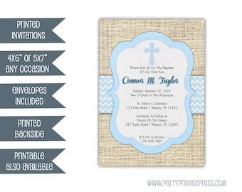 navy baptism invitation boy baby boy blue christening etsy