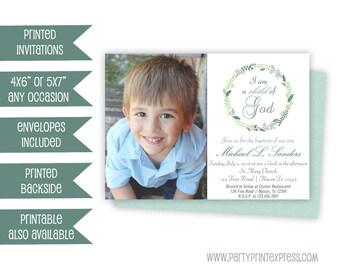 blue baptism invite baby boy baptism invitation boy first etsy