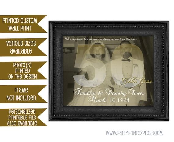 50th Wedding Anniversary Gift Wedding Anniversary Gift | Etsy