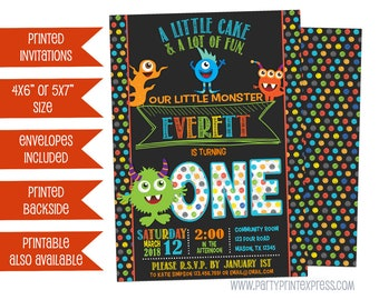 Monster Invitations - Monster Birthday Invitation - Monster Party - Monster Invite - Monster 1st Birthday Invitation - 2nd 3rd 4th 5th any