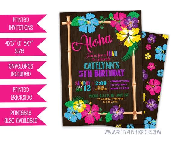 luau birthday invitation hawaii girl luau invitations pink
