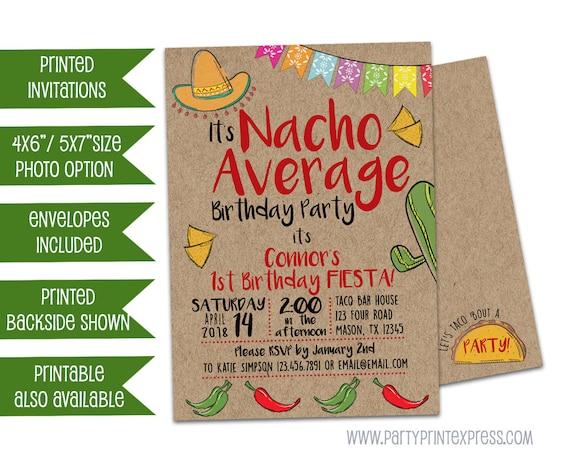 Nacho Average Birthday Invitations