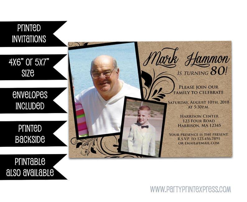 70th Birthday Invitation Man Male Invitations