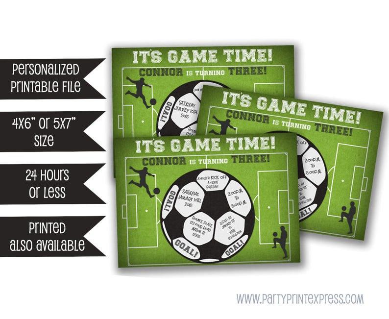 Printable Soccer Invitation Birthday Invitations