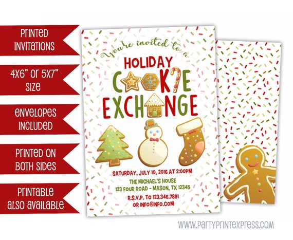 Cookie Exchange Invitations Christmas Cookie Party Invitation