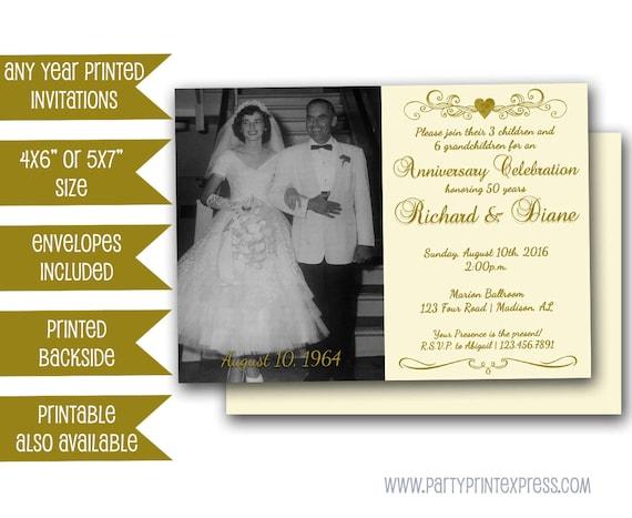 50th Golden Anniversary Party Invitation