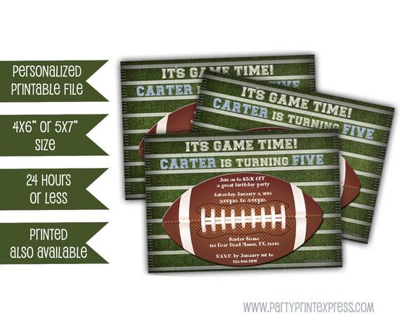 Printable Football Invitations Kickoff Football Invites Etsy