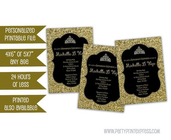 printable gold sweet 16 invitations gold glitter sweet 16 invite