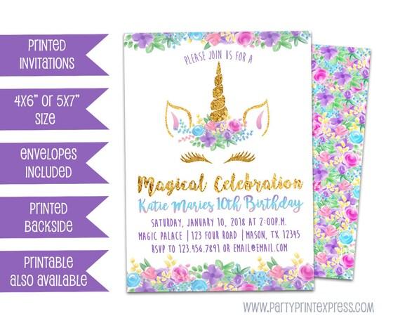 Unicorn Birthday Invitation Face Invitations