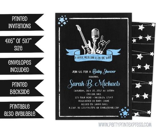 rockstar baby shower invitations rock n roll baby shower etsy
