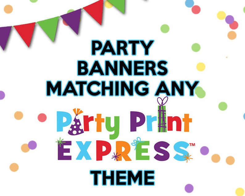 Party Banner Matching any Party Print Express Theme Birthday image 0